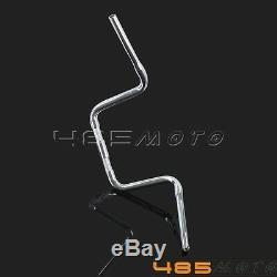 10 Rise Ape Hanger Bar FAT 1-1/4 Handlebar Drag For Harley-Davidson FLST FXST