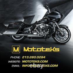 11.5 Harley Black Set Floating Rotor For Most Harley Sportster Dyna Softail