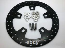 11.8 Black Front Brake Rotors Discs Set Harley Electra Glide Road Glide FLHXS
