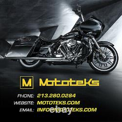 11.8 Harley Black Front Floating Rotor For Touring Bagger Models 2008 Above