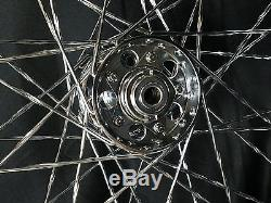1936-1966 STAR HUB CHROME Twisted Spoke TIMKEN BEARING WHEEL 21 x 1.85 HD HARLEY