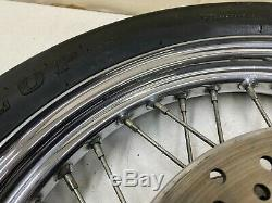 1997 Harley Davidson DYNA SPORTSTER 19 FRONT WHEEL RIM DUAL BRAKE ROTORS NICE