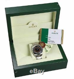 2016 Rolex Oyster Perpetual 116000 Harley 36mm Black Orange Concentric Watch