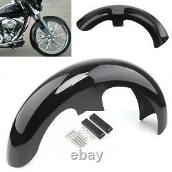 21Wrap Vivid Black Front Fender For Harley Touring Electra Street Glide Baggers