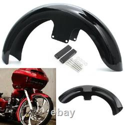 21 Wrap Black Front Fender For Harley Touring Electra Street Glide King Baggers