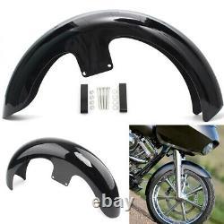 21 Wrap Vivid Black Front Fender For Harley Touring Electra Glide FLHT Baggers