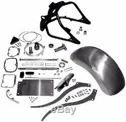 240 250 Wide Fat Tire Kit Black Swingarm Raw Rear Fender Struts Harley Softail
