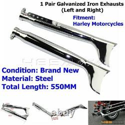 2X Motorcycle Vintage Fishtail Muffler Exhaust Silencer Pipe For Harley Chopper