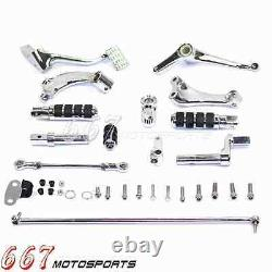 2 Extended Forward Control Foot Pegs Kit Set For Harley Sportster 1200 Roadster