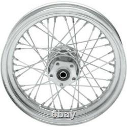 40 Spoke 16 Chrome Rear Wheel 16 x 3 fr 79-99 Harley Sportster Dyna FXR Softail