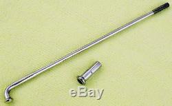 40 polished stainless steel spokes nipples Harley 21 steel or aluminum rim wheel
