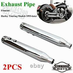 4 Chrome Slip On Muffler Exhaust for Harley Touring Road Glide King 1995-2019