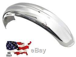 6 chrome Ribbed Steel Rear Fender Harley Rigid Softail bobber hardtail British