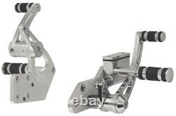 86-99 Harley Softail Billet Extended +3 Chrome Forward Controls 45890
