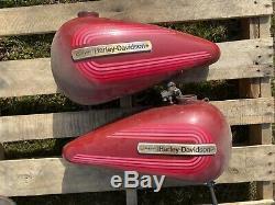 AMF OG 5 Gallon Split Gas Tank Tanks 1976 Harley Shovelhead FLH Original Paint