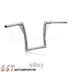 Ape Hangers Bars Fat 1-1/4 12 Rise Handlebars Fpr Harley Softail Sportster XL