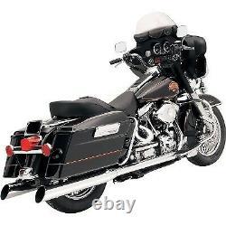 Bassani 4 Slip-On Mufflers Slant Cut Chrome for Harley Touring 95-16