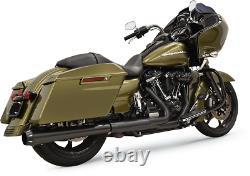 Bassani Black 4 DNT Slip On Exhaust Muffler 17-19 Harley Touring FLHX FLHR