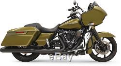 Bassani Black 4 DNT Slip On Exhaust Muffler for 17-19 Harley Touring FLHX FLHR