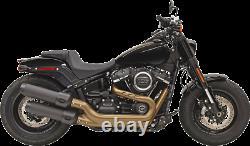 Bassani Black 4 Performance Slip On Exhaust Mufflers for 2018 Harley Fat Bob