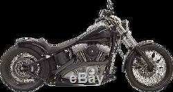 Bassani Black Sweeper Exhaust 86-17 Harley Davidson DYNA Softail FXST FLSTF FXDB