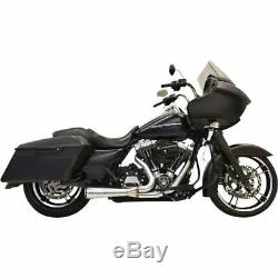 Bassani Xhaust Short Road Rage 21 Stainless Steel Exhaust 95-16 Harley Touring