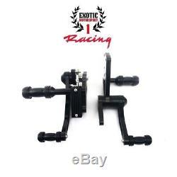 Billet Aluminum Forward Controls Harley Softail Fatboy 2000-2017 Black