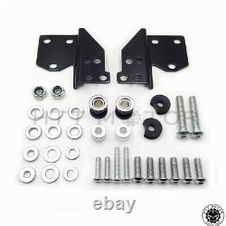 Black Detachable Sissy Bar Front Docking Hardware Kit For Harley Touring 97-08