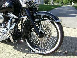Black Fat Spoke Wheel 21x3.5 52 Dna Any Color Rim/hub For Harley Softail Models