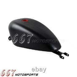 Black Gas Oil Tank for Harley Sportster XL 883 1200 2004-2006 3.3 Gal Fuel Tank