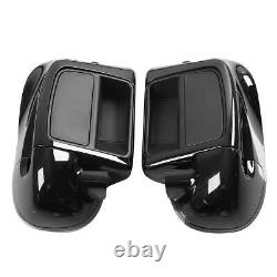 Black Lower Vented Fairings Engine Guard Bar Fit For Harley Road Glide 2014-2021