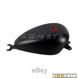 Black Motorcycle Gas Tank 3.3 Gallon EFI Oil Tank For Harley Sportster XL 07-Up