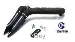 Black Wraped 2 Drag LAF Pipes Mufflers 4 Harley Touring Dyna Softail Sportster
