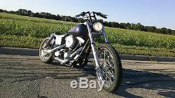 Bobber chopper stainless steel 1'' riserless handlebar harley davidson