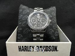 Bulova Knurl Ride Collection Women's Harley Davidson Watch