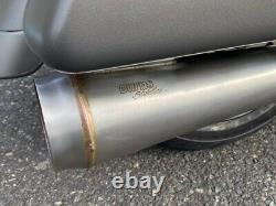 Burns Racing Stainless 2 1 Exhaust Header Pipe System 17+ Harley Touring M8 OB