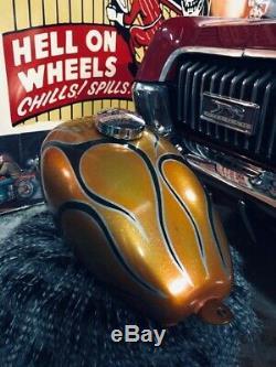Chopper Wassell Tank metalflake Panhead vintage harley gas peanut shovelhead dyn
