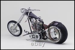 Choppers Inc Harley Ball Milled 1.125 Steel Handlebars Kit Internal Throttle