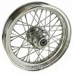 Chrome 16 X 3.00 Front Wheel 00-06 Harley Softail FXST 41MM / 00-05 Dyna FXDWG