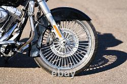 Chrome 21 3.5 46 Fat King Spoke Front Wheel Rim Harley Touring 08-20 Dual Disc