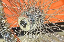 Chrome 26 3.5 60 Spoke Front Wheel Rim 2000-2007 Harley Touring Dual Disc Bagger
