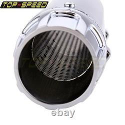 Chrome 3-1/4 Slip On Muffler CNC Billet Cap Exhaust For Harley Sportster 14-16
