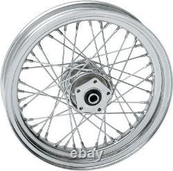 Chrome 40 Spoke 16 x 3 Front Wheel Rim Harley FL Softail Fatboy Heritage 86-99
