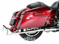Chrome Fishtail 33 Slip-On Mufflers Exhaust Pipes Harley 17-20 Touring Bagger