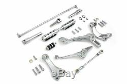 Chrome Forward Controls Control Kit Soft Footpeg Set 2004-2013 Harley Sportster