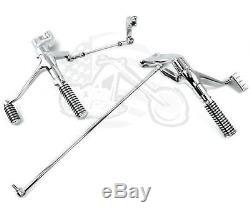 Chrome Forward Controls Control Kit with Footpeg Set 2004-2013 Harley Sportster XL