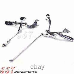 Chrome Forward Controls Kit For 2004-2013 Harley-Davidson Sportster XL 1200 883