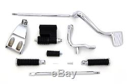 Chrome OE Replacement Mid-Controls Shifter Footpeg Kit Set Harley 1991-2017 Dyna
