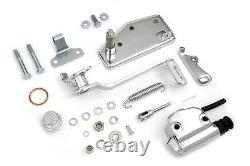 Chrome Steel Forward Brake Control Kit Hydraulic fits Harley FL 1970-1978