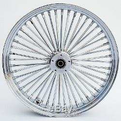 Chrome Ultima 48 Fat King Spoke 21 x 3.5 Front Dual Disc Wheel Harley 00-07
